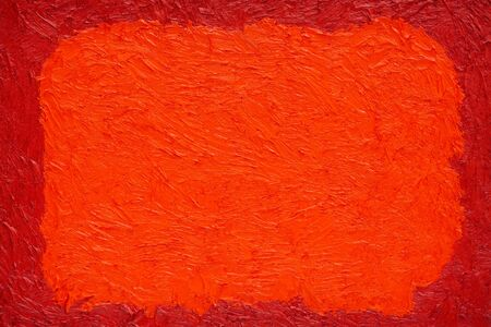 oil color painted red and orange background, painted with real oil color on canvas by hand