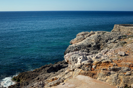 Stony ocean coastline, Cuba, Havana Stock Photo