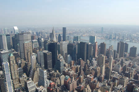 View of the most iconic buildings and skyscrapers in Manhattan (New York).