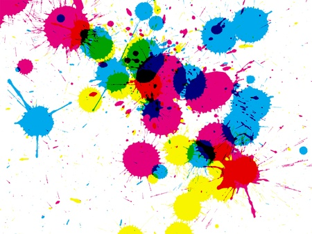 ink stain: Colorful ink splatterbackground