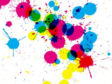 pallino: Splatterbackground inchiostro colorato