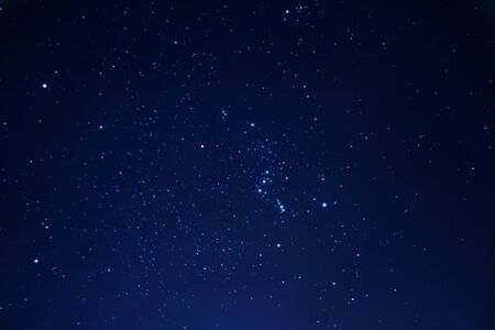 night sky and stars: Real stars in the night sky Stock Photo
