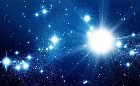sterrenhemel: Geïllustreerde ruimte vol met glanzende sterren