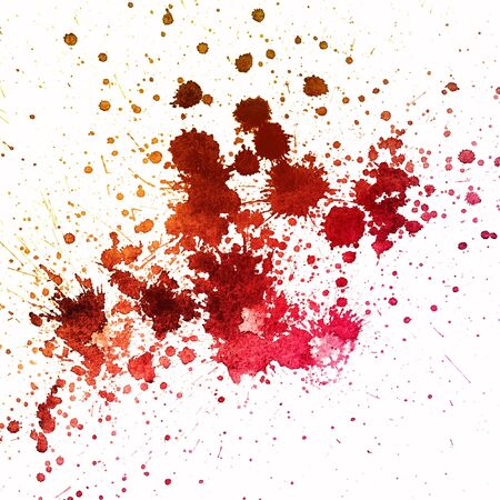 blood splatter: Grungy colorful sprayed stain