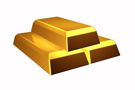 gold ingot: Gold bars illustration