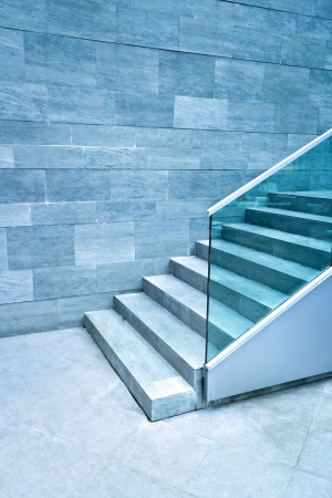Modern stairs made of marble stone