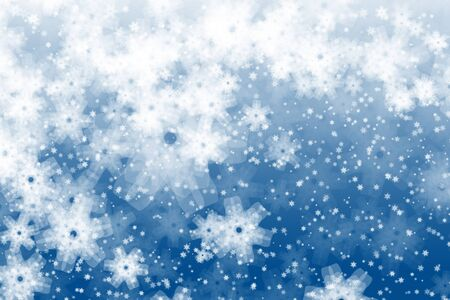 new years resolution: Snowflakes illustration Stock Photo