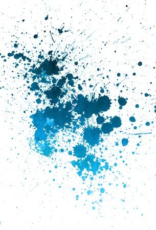 paint drips: Blue paint splatter stain