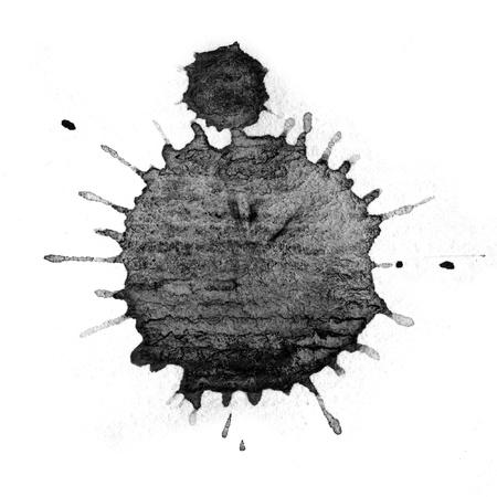 ink drop: Black ink drop stain