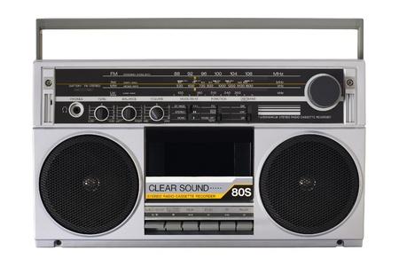 boom: Vintage boombox radio Stock Photo