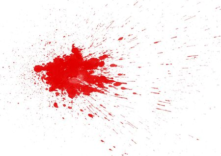 drop of blood: Blood stain on white background