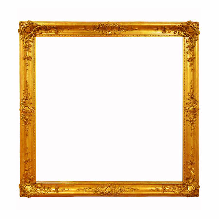 Decorative old golden frame  Stock Photo