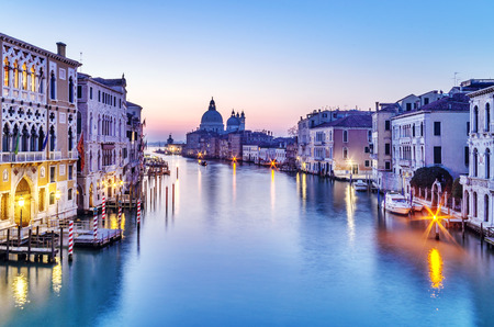 Dusk in Venice, Italy  Stock Photo