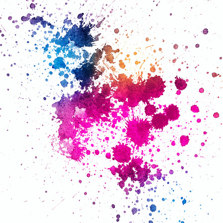 Colorful paint splatter on white  Stock Photo