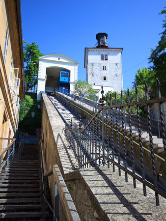 Funicular in Zagreb old town