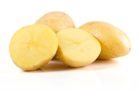 potatoes isolated on white background Stock Photo