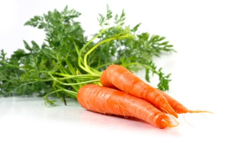 Isolated Bunch of carrots