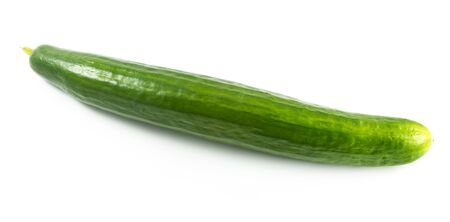 unsliced: Cucumber isolated on white background Stock Photo