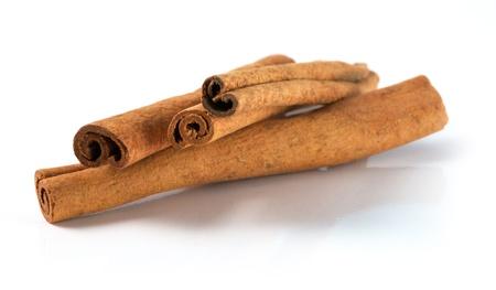 cinnamon bark: Isolated cinnamon bark on a white background Stock Photo