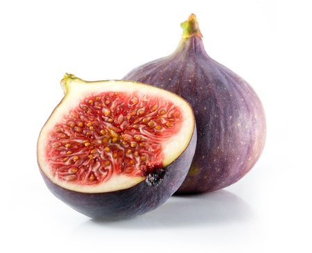 Fresh figs isolated on white Stok Fotoğraf