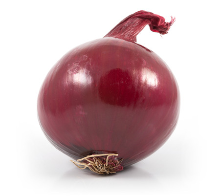 Isolated red onion on white background Stock Photo