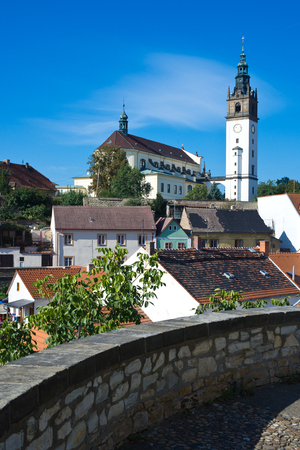 Panorama Czech town Litomerice with tower