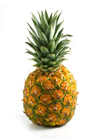Isolated pineapple on white background Stock Photo