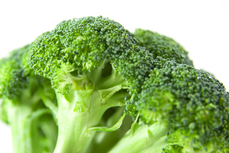 Closeup broccoli on white background Stock Photo