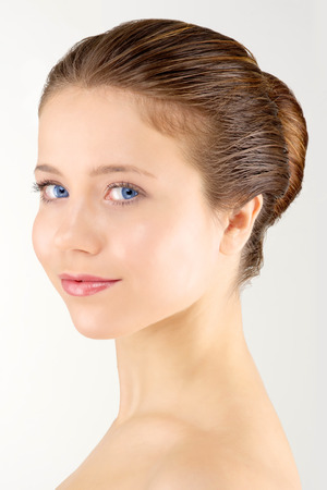 young adult woman with clean fresh skin