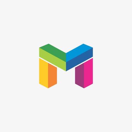 M Logo Template Иллюстрация