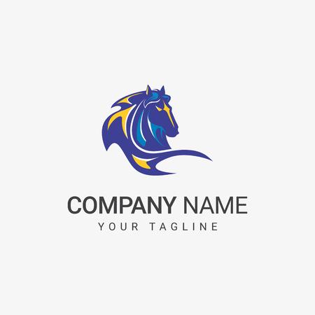 Blue Horse Logo Иллюстрация