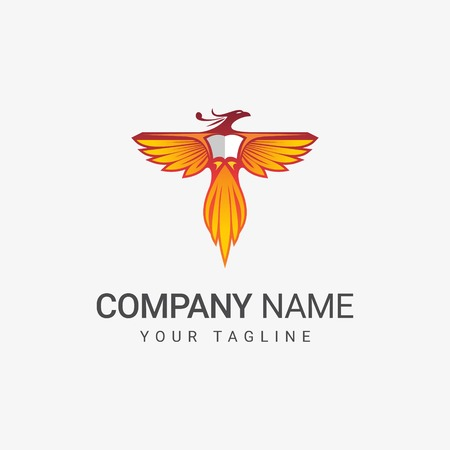 Phoenix Bird Logo Иллюстрация