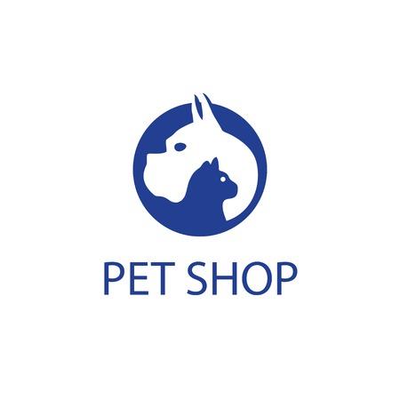 Pet Shop Logo Иллюстрация
