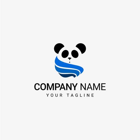 Panda Template art design Иллюстрация