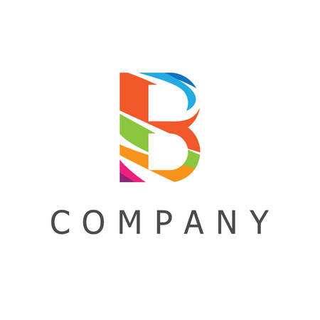 Colorful Letter B