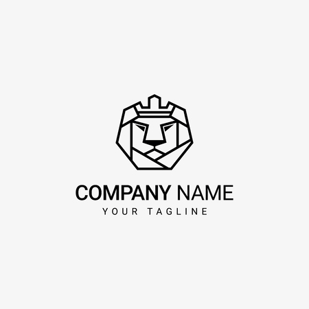 Lion Crown in Head Template