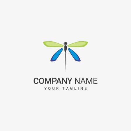 Dragonfly Template Иллюстрация