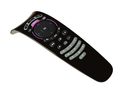 tv remote: Черный изоляция пульт на белом фоне