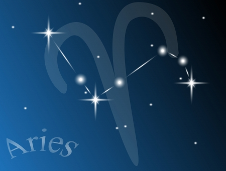the constellation Aries against the sky Vector