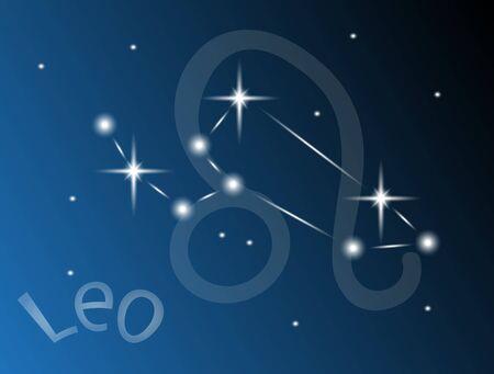 Leo constellation in the sky Stock Vector - 21943706