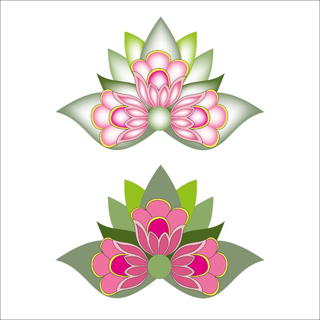 Lily flower isolated on a white background in the gradient and without Stock Vector - 22207706