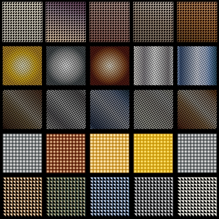 fifteen backgrounds textures in different metal shades
