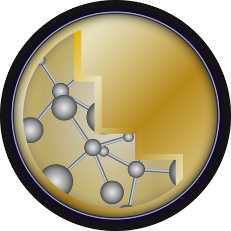 gold medals with a pattern of molecules Vector