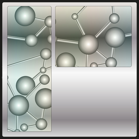abstract background with a metal pattern in the form of molecules