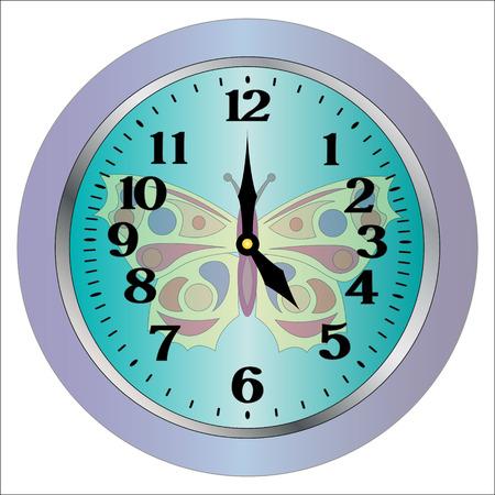 isolation: wall clocks isolation on white background