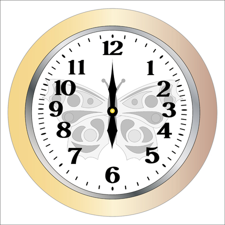 wall clocks isolation on white background Vector