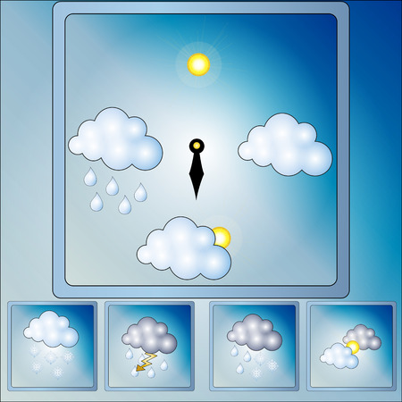 set of icons with images of weather Stock Vector - 22468453