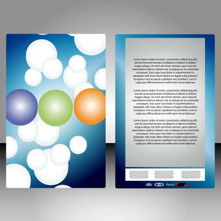 a colorful booklet for рекламмыс abstract circles Vector