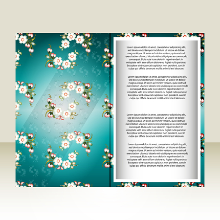 poems: colorful postcard with flowers where you can write poems or any other text