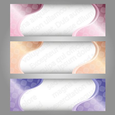 set of colorful background banners with the text watermark Illustration